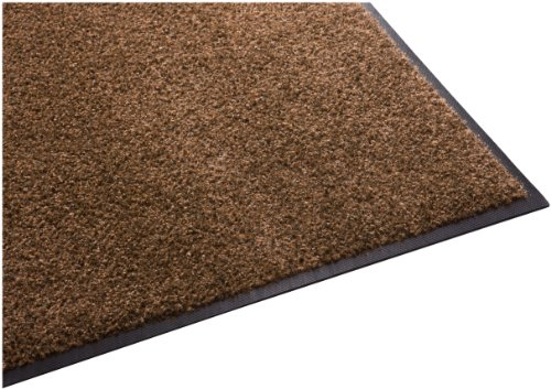 Guardian Platinum Series Indoor Wiper Floor Mat, Rubber with Nylon Carpet, 6'x10', Brown