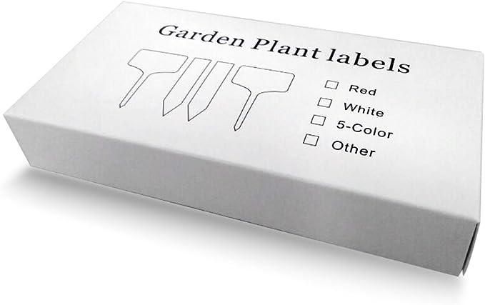 Etiquetas y marcadores de plástico en forma de T para jardinería ...