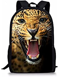 Coloranimal Fashion 3D Leopard Face Printing Kids Backpacks Children Animal School Bags