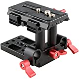 CAMVATE Quick Release Mount Base QR Plate for Manfrotto 501/504/577/701 Tripod Standard Accessory(Red)
