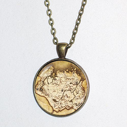 Skyrim Halloween Costumes (SKYRIM MAP pendant necklace -)