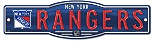 WinCraft NHL New York Rangers 4''x17'' inch Plastic Street Sign