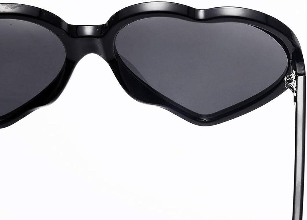LEvifun Rotondi Occhiali da sole da Ragazza Moda Piccoli Occhi di gatto Vintage Particolari Occhiali sole da vista Leggerissimi Trasparente Unisex Occhiali sole Ragazze 6 colori