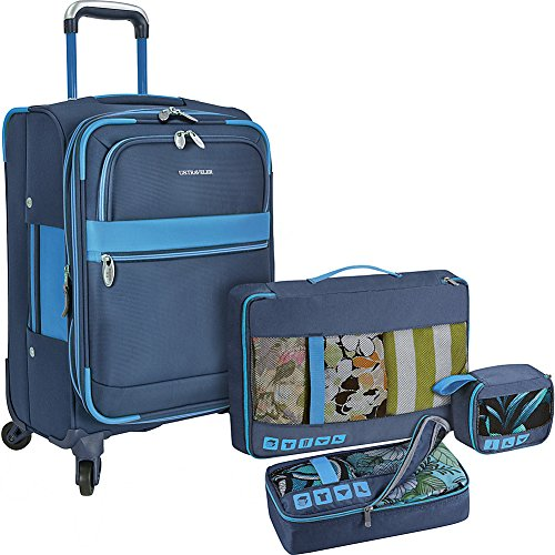 us-traveler-alamosa-4-piece-luggage-set-one-spinner-and-3-packing-cubes-navy