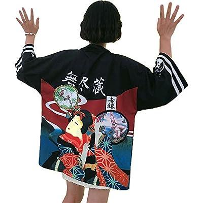 ZooBoo Japanese Kimono Dress Cardigan - Loose Jacket ClothingRobe Costume Bathrobe Sleepwear for Women Girls - Geisha