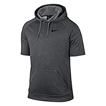 Amazon.com : Men's Nike Thermal Hoodie Gray - Large Short Sleeve ...