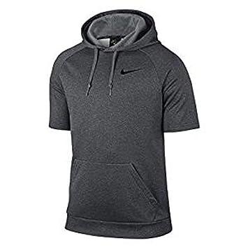 Amazon.com : Men's Nike Thermal Hoodie Gray - Large Short Sleeve ...