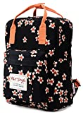BESTIE 12' Cute Mini Small Backpack Purse Travel Bag, Plum Flowers