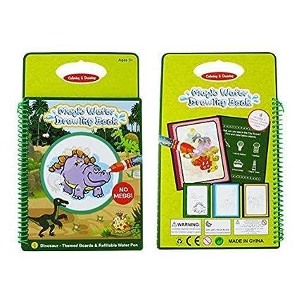 Amazon.com: Tangomall Dinosaur Water Magic Drawing Books Kids Water ...