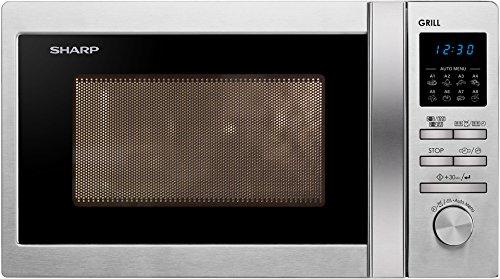 Sharp R-622STWE - Microondas (44 cm, 35,9 cm, 25,8 cm) Acero inoxidable
