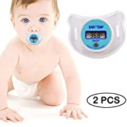 Infant Baby Soft Nipple Pacifier Thermometer Children Digital Temperature 2 Pack