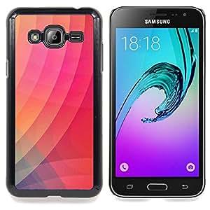 Stuss Case / Funda Carcasa protectora - Gradiente de color rosa raya Arte Moderno - Samsung Galaxy J3 GSM-J300