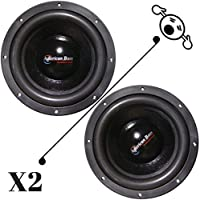 2 NEW American Bass TNT1044 10 Inch 4 Ohm 2400W MAX Dual CAR SUBWOOFERS PAIR