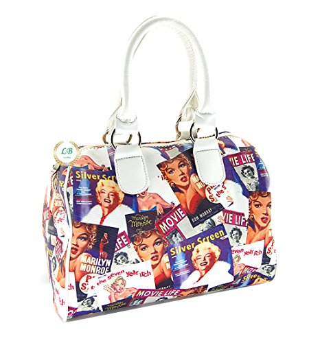 Marilyn Monroe Colorful Collage Collection White Satchel Purse