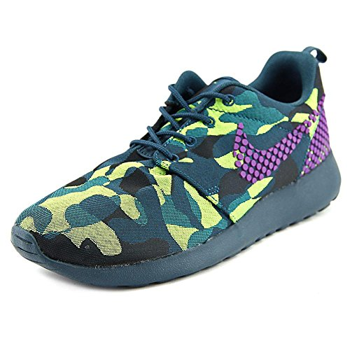 Nike Womens Roshe One PREM Plus Midnight Teal/Teal/Radiant Emerald/Vivid Purple (6.5)
