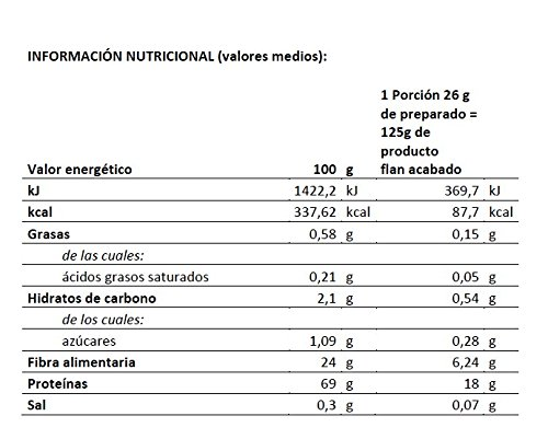 Body Genius PROTEIN FLAN. Preparado para flan protéico sabor Galleta. Con Stevia y sin azúcares o polialcoholes añadidos. 275gr.