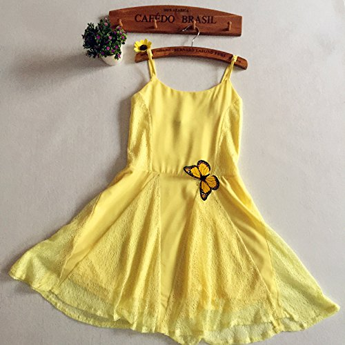 7337ac8a785 Ms.Gaga Women s Summer Spaghetti Strap Solid Slip Lace Mini Sundress chic