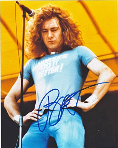 (ROBERT PLANT, FROM LED ZEPPELIN, 8 X 10 PHOTO AUTOGRAPH ON GLOSSY PHOTO PAPER)