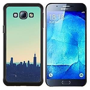 Stuss Case / Funda Carcasa protectora - NYC New York Teal Sunset - Samsung Galaxy A8 A8000