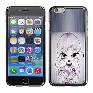 EJOY---Cubierta de la caja de protección la piel dura para el / iPhone 6 / --Muchacha Hermosa Oriental