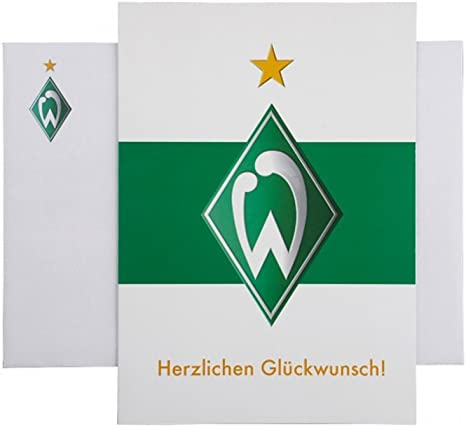 """SV Werder Bremen Glückwunschkarte /""""Konfetti/"""""""