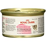 ROYAL CANIN FELINE HEALTH NUTRITION Kitten Instinctive thin slices in gravy canned cat food, 3-Ounces, 24-Pack