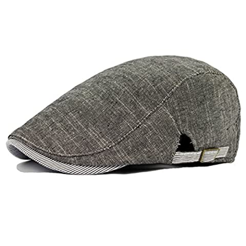 Fashionable Cabbie Cap - iParaAiluRy Retro Cotton Newsboy Cap Newspaper Boy Hat Beret Hat for Teenagers and - Denim Pinstripe Cap