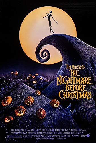 Nightmare Before Christmas Movie Poster US Version, Size 24x36