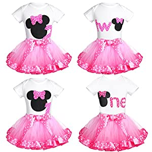 CHICTRY Toddler Baby Girls' Birthday Outfits Princess Cartoon Cosplay Tutu Skirt Clothes Sets