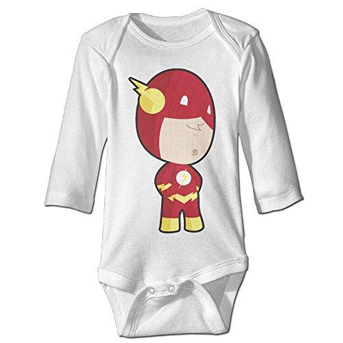 DW Toddler Cartoon Flash Long Sleeve Bodysuits White 18 Months ()