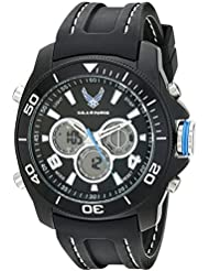 Wrist Armor Mens 37300009 U. S. Air Force Analog-Digital Display Quartz Black Watch