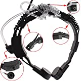 KENMAX® Military Tactical Throat Mic VOX Earpiece Headset FBI with PTT for WOUXUN KG-889 KG-869 KG-819 TYT TH-F7 TH-F8