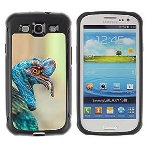 LASTONE PHONE CASE / Suave Silicona Caso Carcasa de Caucho Funda para Samsung Galaxy S3 I9300 / turkey tropical blue bird nature Easter