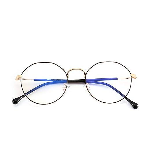 Yangjing-hl Tendencia Irregular Gafas Montura polígono Espejo ...