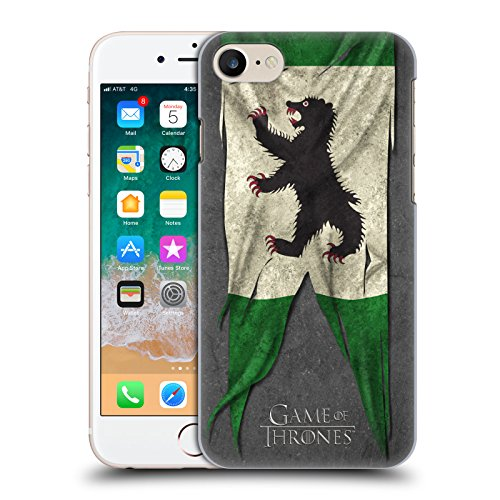 Price comparison product image Official HBO Game Of Thrones Mormont Sigil Flags Hard Back Case for Apple iPhone 7