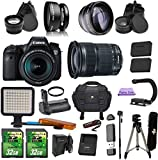 Canon EOS 6D + 24-105mm IS STM. PagingZone Kit Includes, .43x Fisheye Lens + 2.2x Telephoto Lens + LED Light + 2 SD 32GB Card + Extra Battery & Charger + UV Filter + Tripod + Monopod + Battery Grip