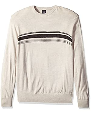 Men's Big and Tall Soft Acrylic Crew with Chest Stripe