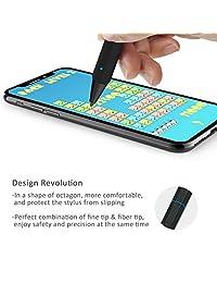 Abida   Lápiz capacitivo para iPad, lápiz capacitivo con punta de fibra fina, recargable, sin necesidad de aplicación o Bluetooth para dispositivos iOS, especialmente para dispositivos Apple como iPad, iPhone, iPad Pro   marrón