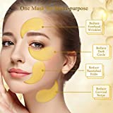 Under Eye Patches 24K Gold Collagen Eye Mask for