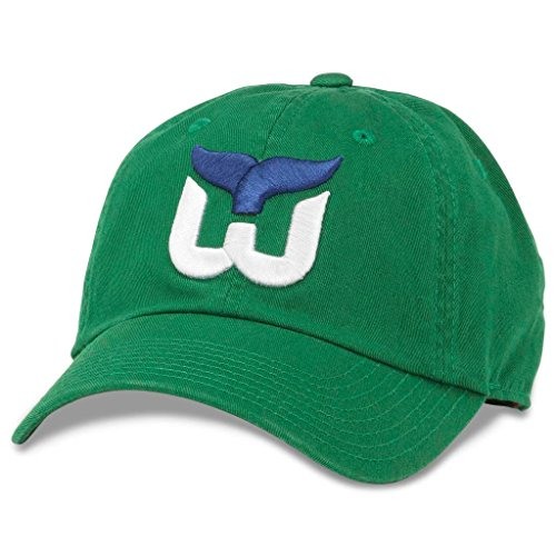 (American Needle Blue Line NHL Team Dad Hat, Vintage Hartford Whalers, Kelly Green (40742A-HAW))