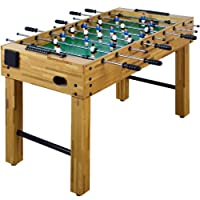 Tischfussball Glasgow Buche inkl. Zubehör Set, 2 Getränkehalter,...