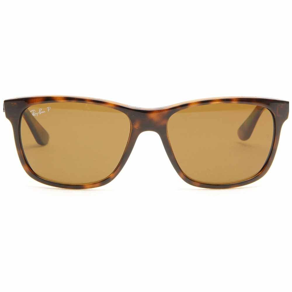 1181ecb46b Amazon.com  Ray Ban RB4181 Highstreet Sunglasses - 710 83 Tortoise ( Polarized Brown Classic B-15XLT Lens) - 57mm  Clothing