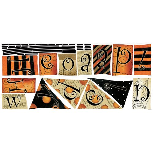 (RoomMates Happy Halloween Pennants Peel and Stick Wall)
