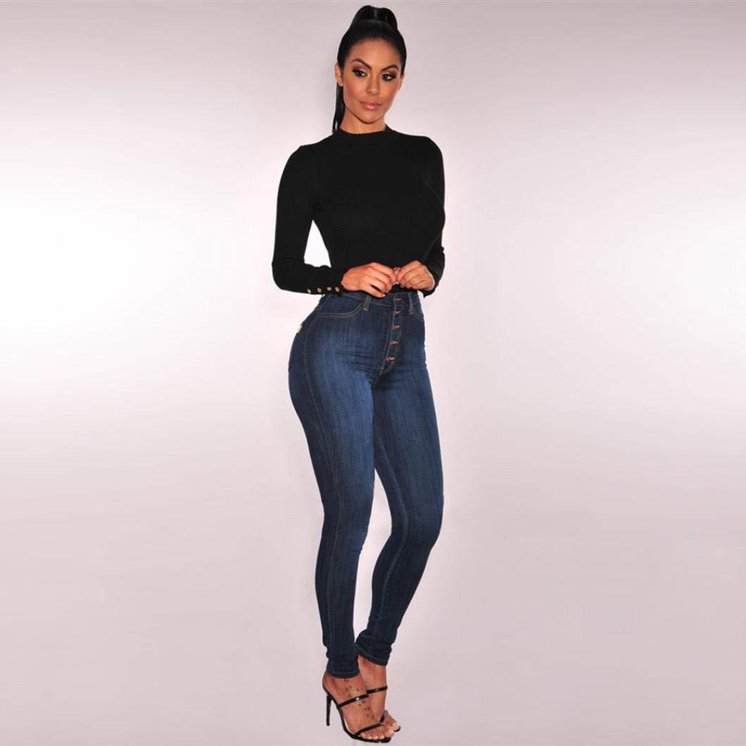 STRIR-Ropa Vaqueros Talla Grande Mujer,Mujer Flacos De Cintura Alta Leggings El/ásticos Skinny Slim Pantalones