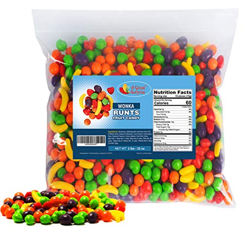 Runts - Runts Candy - Runts Bulk - Wonka Runts - Runts Candy Bulk - 2 LB Bulk Candy