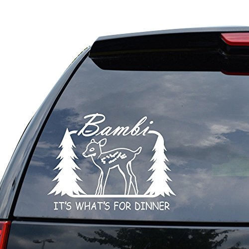 Bambi Sticker - DEER BUCK HUNTING BAMBI Decal Sticker Car Truck Motorcycle Window Ipad Laptop Wall Decor - Size (22 inch / 56 cm Wide) - Color (Gloss RED)