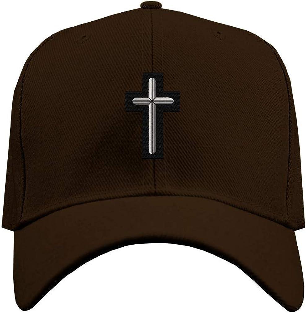 Custom Baseball Hat Chaplain Cross Embroidery Military Unit Structured Cap