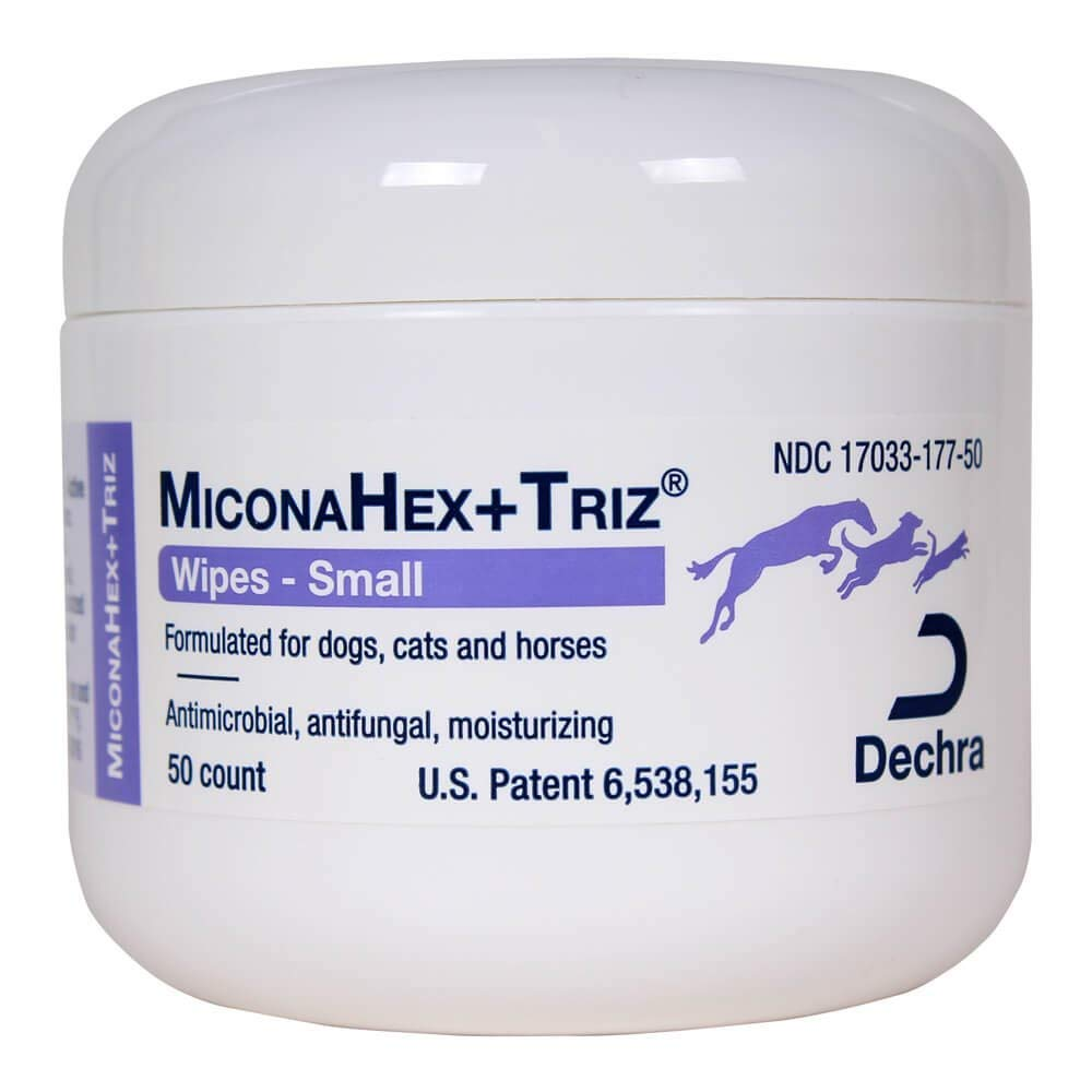 Dechra MiconaHex Triz Wipes for Cats and Dogs 50 Count