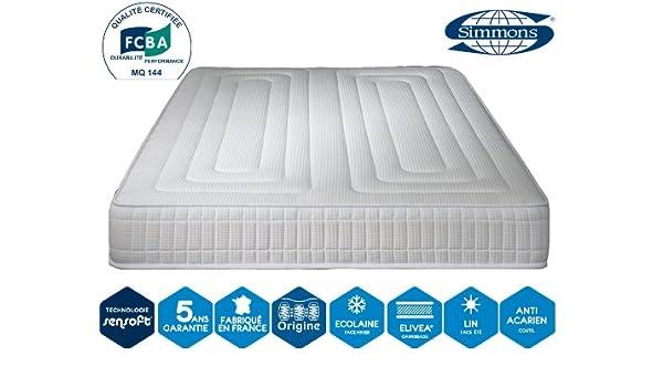 Simmons - Colchón Excellence Confort 24 cm - blanco, 90 x 200 cm: Amazon.es: Hogar