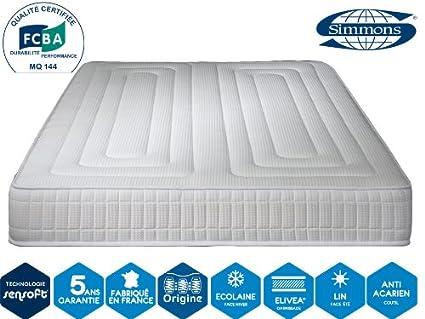 Simmons – Colchón Excellence Confort 24 cm – blanco, 90 x 200 cm